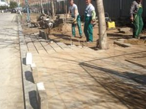 Облагородяване на А5 – новите тротоари