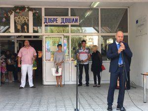 Кметът на Тракия Костадин Димитров поздрави всички ученици в района
