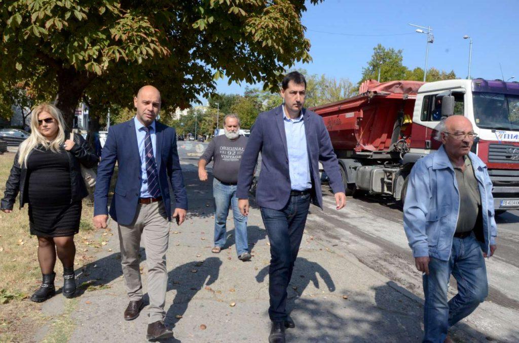 Инспектираха мащабните ремонти в район Тракия