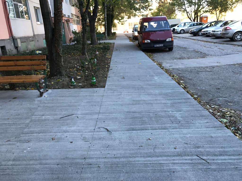 """И тротоарите пред блок 73 в """"Тракия"""" са готови"""