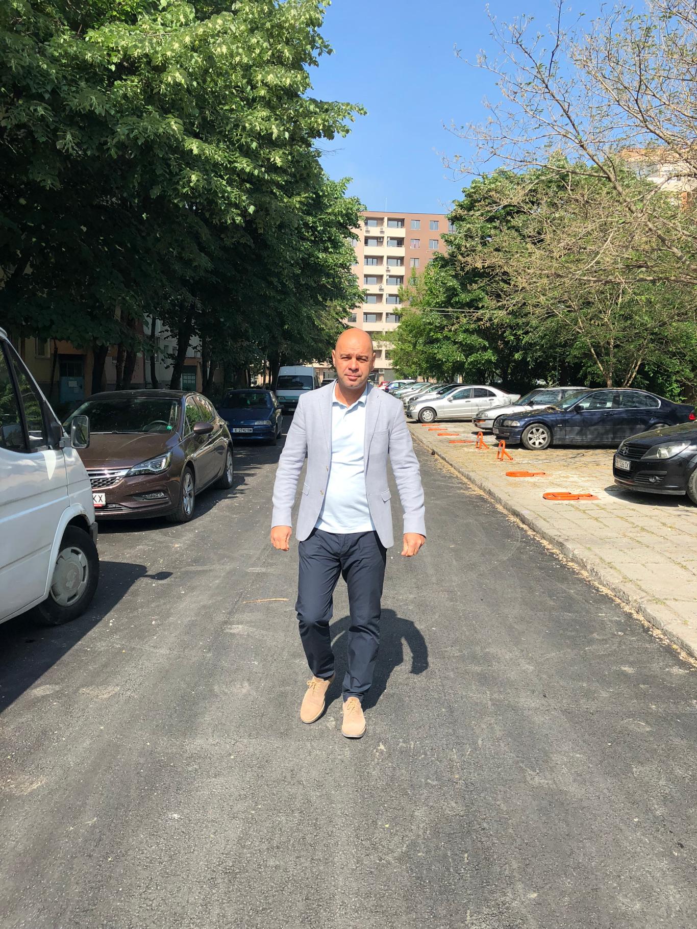 """Приключи асфалтирането на три улици в район """"Тракия"""""""