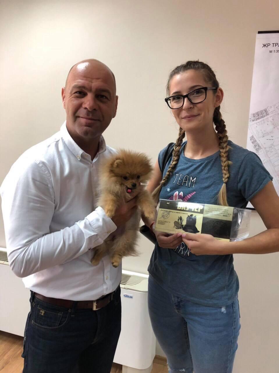 """Поредното регистрирано куче в """"Тракия"""" получи награди, готова е и новата площадка за домашни любимци"""