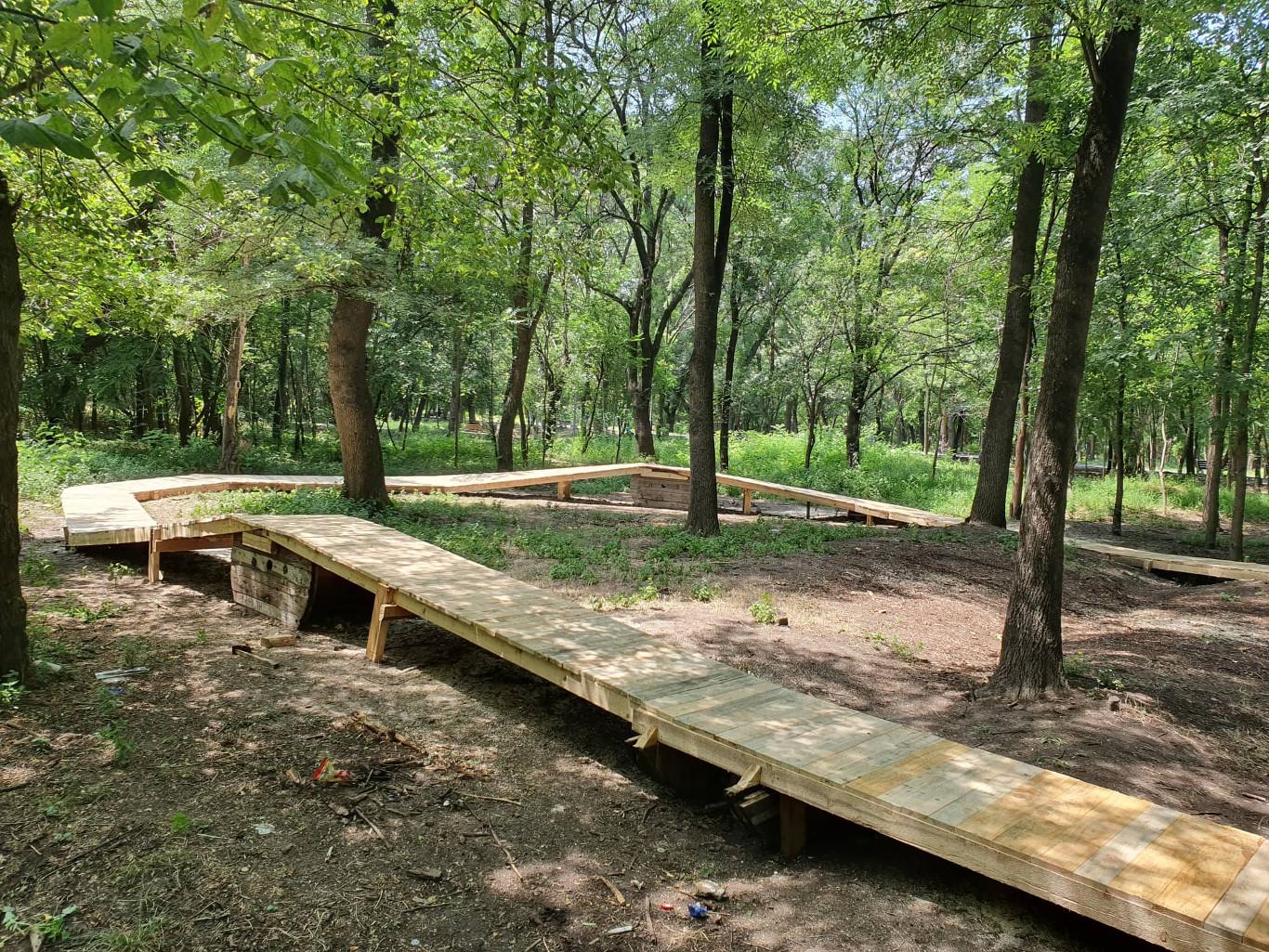 """Обновена рампа за велосипедистите в парк """"Лаута"""""""
