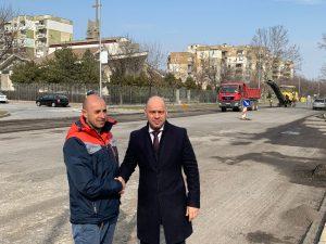 Преасфалтират булевард в Тракия