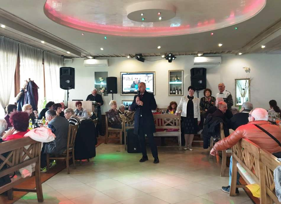 Честване на членовете на Клуба на инвалида в Тракия