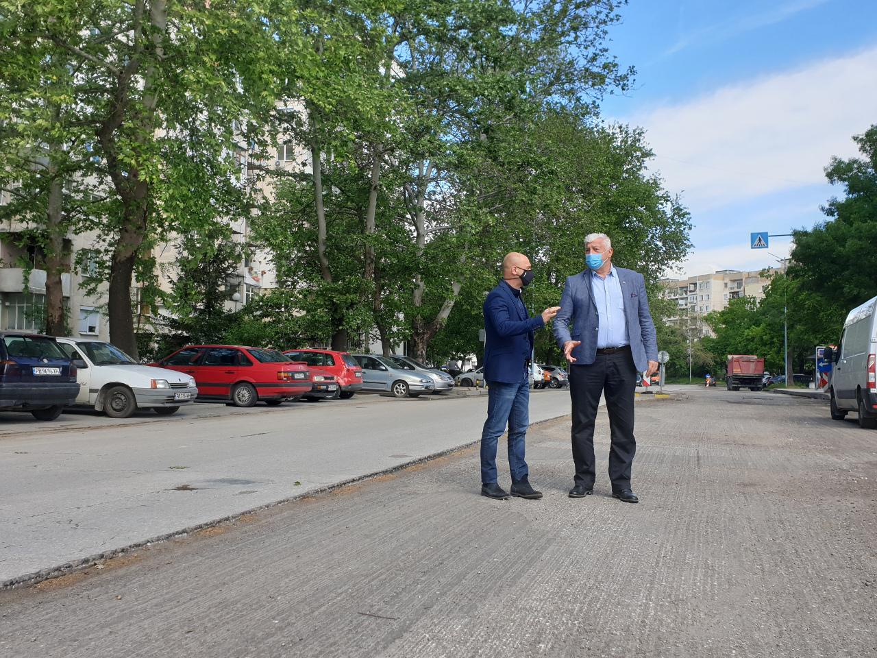 "Здравко Димитров и Костадин Димитров инспектираха обект в ""Тракия"""