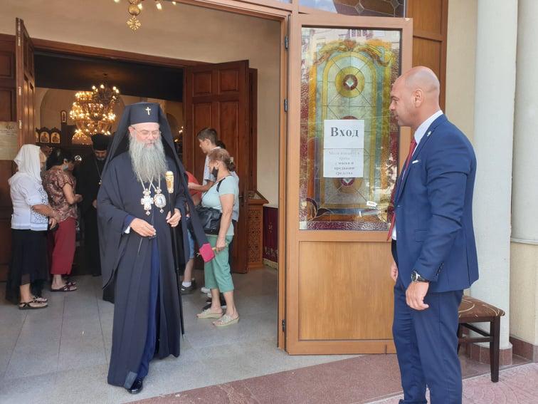 На Преображение кметът Костадин Димитров присъства на светата литургия в храма в Тракия